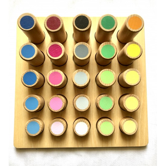 Cilindrii colorati set Montessori