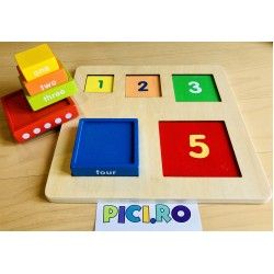Turn Montessori puzzle incastru color
