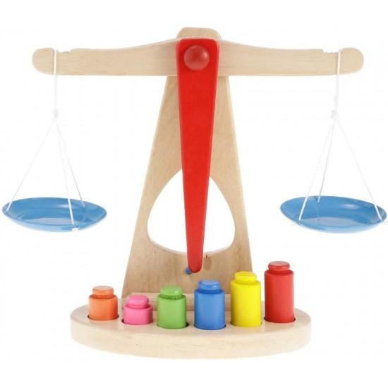 Balanta Montessori din lemn