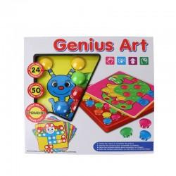 Mozaic Genius Art Button idea cu piese mari