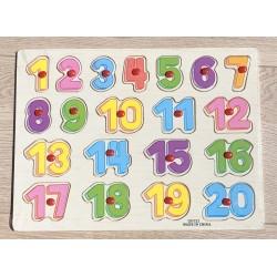 Puzzle lemn cifre 1-20