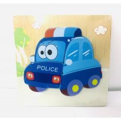 Puzzle incastru Masina de politie
