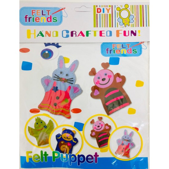 Kit pentru copii Art and Craft Marioneta de mana : Iepuras