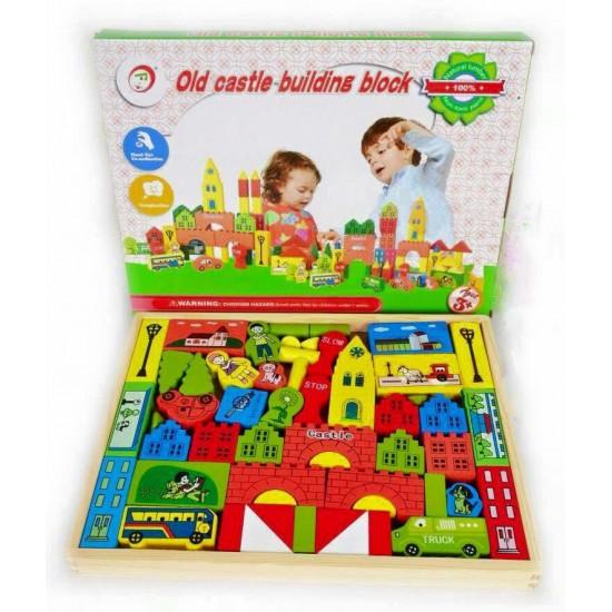 Set cuburi de lemn Castelul Copiilor
