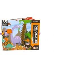 Puzzle de podea cu 35 piese mari - Dinozauri