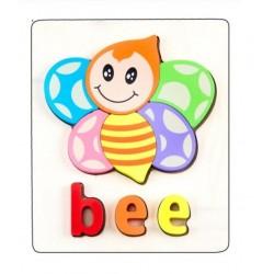 Puzzle Din Lemn Cuvinte In Limba Engleza - Albina (Bee)