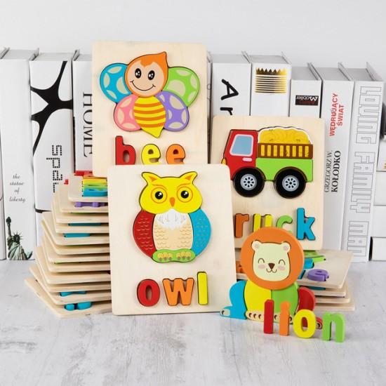 Puzzle Din Lemn Cuvinte In Limba Engleza - OWL (Bufnita)