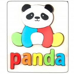 Puzzle Din Lemn Cuvinte In Limba Engleza - Panda (Urs Panda)