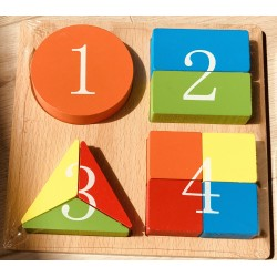 Puzzle forme geometrice Invata numerele