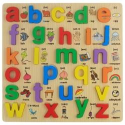 Puzzle Alfabet litere mici de tipar