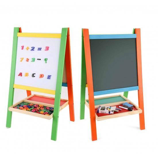 Tabla magnetica educativa cu doua fete pliabila