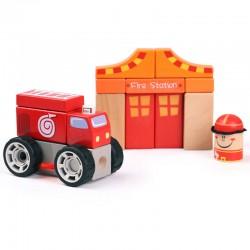 Set de constructie - Pompieri  Topbright