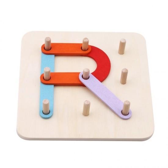 Placa geoboard din lemn Montessori Joc educativ de imaginatie