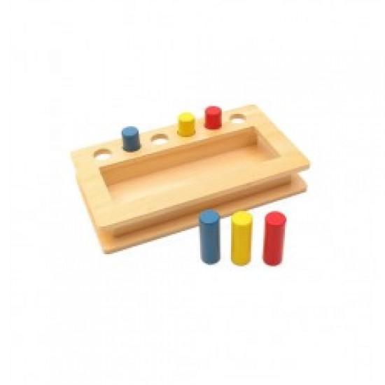 Material Montessori din lemn -Peg Box