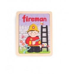 Puzzle lemn 30 piese Pompier