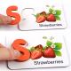 Alfabet cu  Litere 3D si cartonase cu fructe