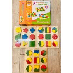 Set 3 puzzle-uri forme geometrice