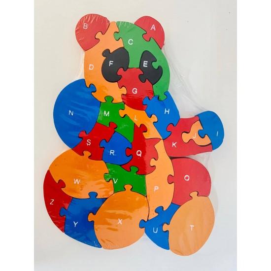 Puzzle lemn 26 piese Urs Panda