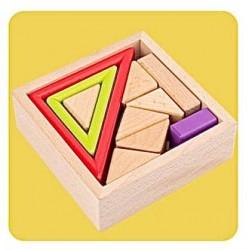 Joc de stivuire din lemn - triunghi