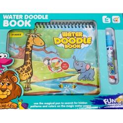 Carte de colorat reutilizabila cu apa- Animale din jungla