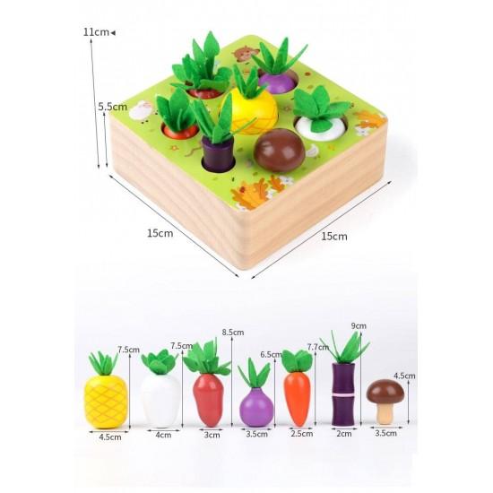 Puzzle de sortare Fructe si legume