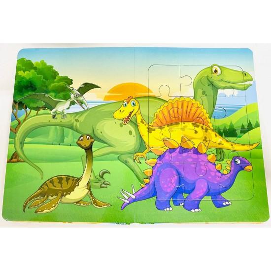 Puzzle carte educational - Dinozauri