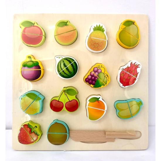 Puzzle 14 fructe de feliat pe tava si feliator