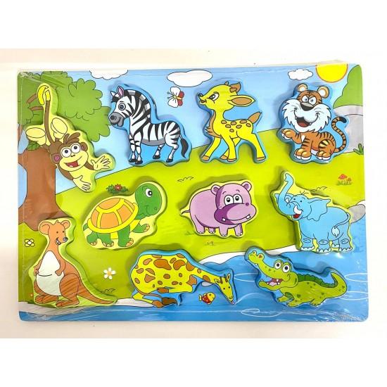 Puzzle 3D din lemn 10 Animale din Jungla