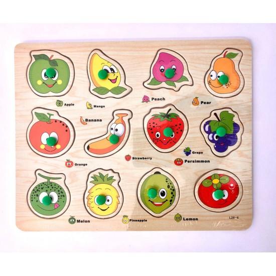 Puzzle incastru 12 fructe