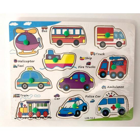 Puzzle incastru 10 Vehicule