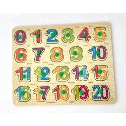 Puzzle incastru Cifre