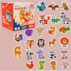 Set 24 puzzle din 2 piese Animale