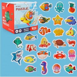 Set 24 puzzle Animale marine