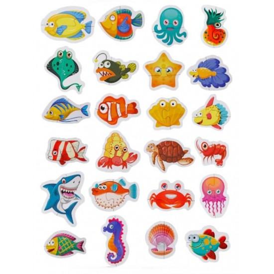 Set 24 puzzle Animale marine