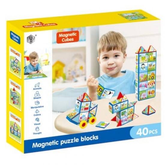 Joc de constructii Magnetic 40 piese