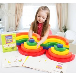 Set de Construit din lemn Circle Set Kidpik
