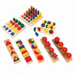 Set Jucarii Montessori lemn – 8  jocuri