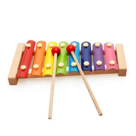 Xilofon din lemn cu 8 note clasic