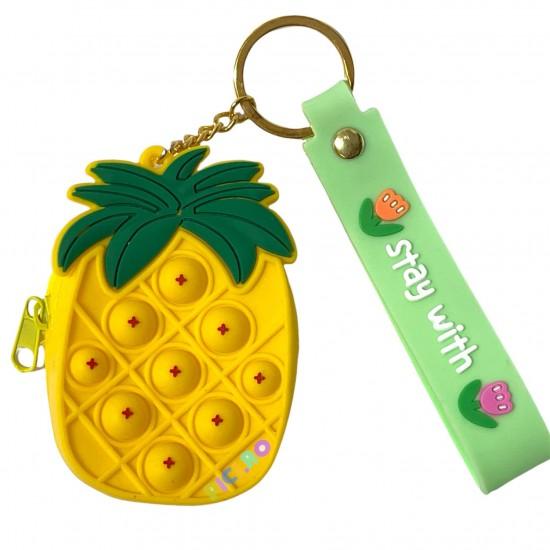 Breloc Pop It Portmoneu Ananas