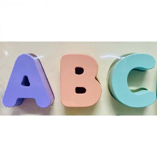 Alfabetul Puzzle incastru Pastel