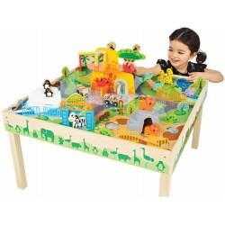 Masa de joaca din lemn Imaginarium Zoo
