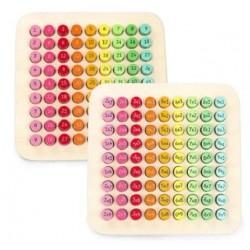 Tabla Inmultirii din Lemn colorat  Joc educativ piese rotunde