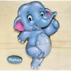 Puzzle 3D din lemn Elephant