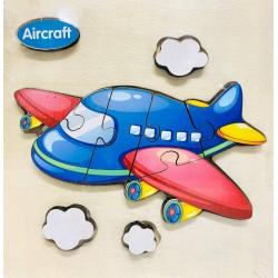 Puzzle 3D din lemn Aircraft