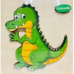 Puzzle 3D din lemn Crocodile