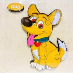 Puzzle 3D din lemn Dog