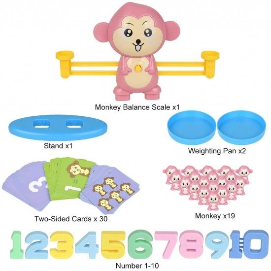 Balanta invatam matematica cu Maimuta vesela