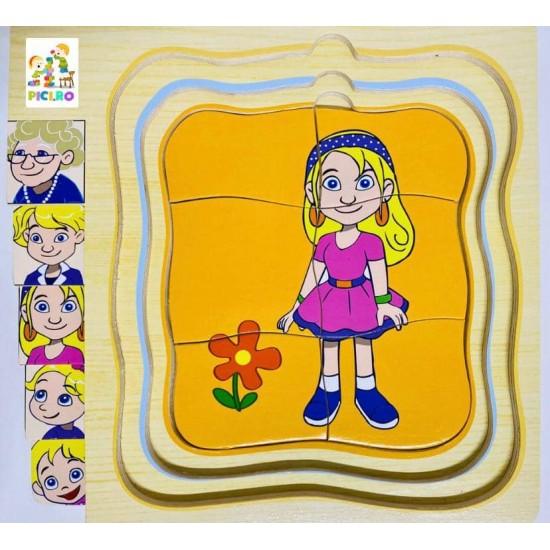 Puzzle etapele Vietii Fata