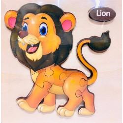Puzzle 3D din lemn Lion