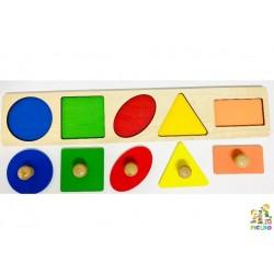 Montessori incastro 5 forme geometrice Bebelusi